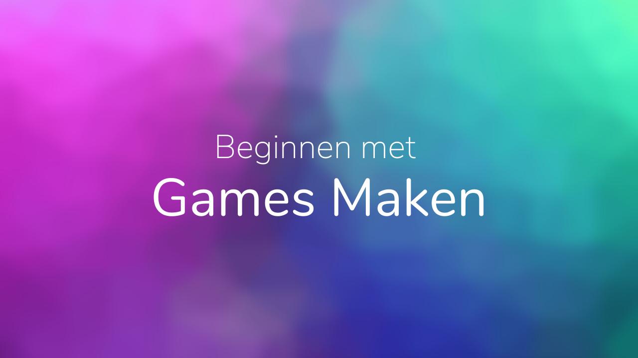 Beginnen games maken