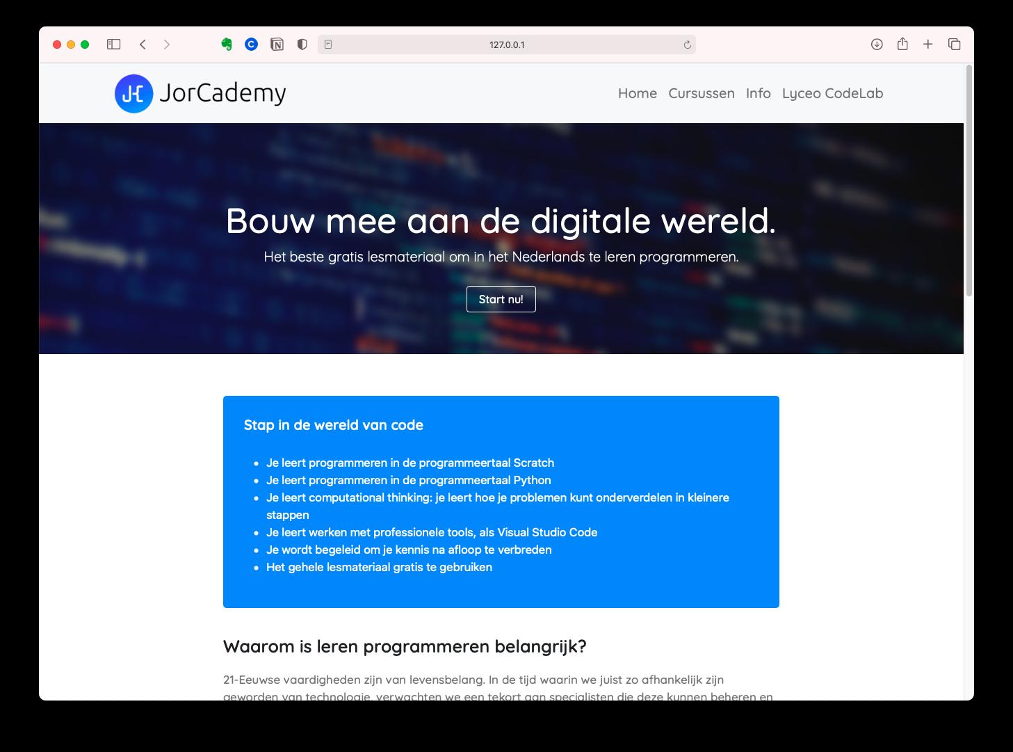 Mijn zelfgemaakte versie van JorCademy.nl - games maken